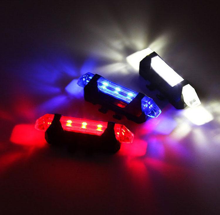 Светодиодный задний фонарь YJN5309 для горного велосипеда, зарядка через USB, IPX4
