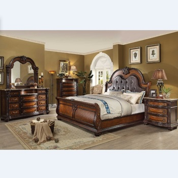 Classic King Size Bedroom Set European Style Hot Sell Royal Luxury Bedroom Furniture WA190