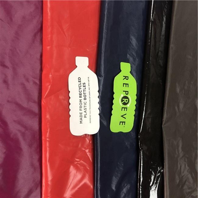 Пуховик, Подкладка куртки 380T 400T, блестящая мягкая Водонепроницаемая 100% переработанная нейлоновая ткань Rept