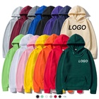 Hoodies Cotton Fleece Hoodies Custom Printing Embroidery Logo High Quality Unisex Blank 100% Cotton Oversized Pullover Hoodies