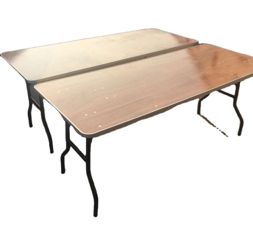 Складной прямоугольный стол из фанеры с алюминиевой кромкой