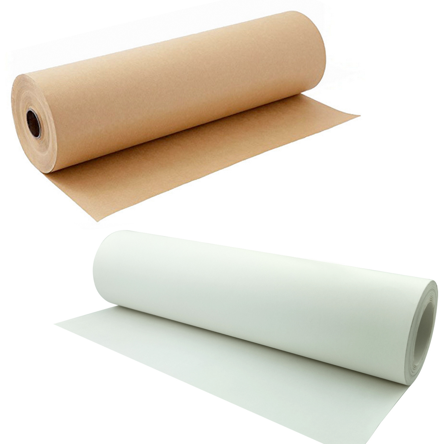 Customized Brown White Kraft Paper Roll Crafts Art Gift Flower Packaging Wrap Decoration Poster Print