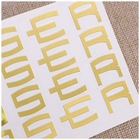 Gold Logo 3D Custom Self Adhesive Gold Electroform Silver Gold Nickel Label Electroplated Thin Metal Logo Sticker