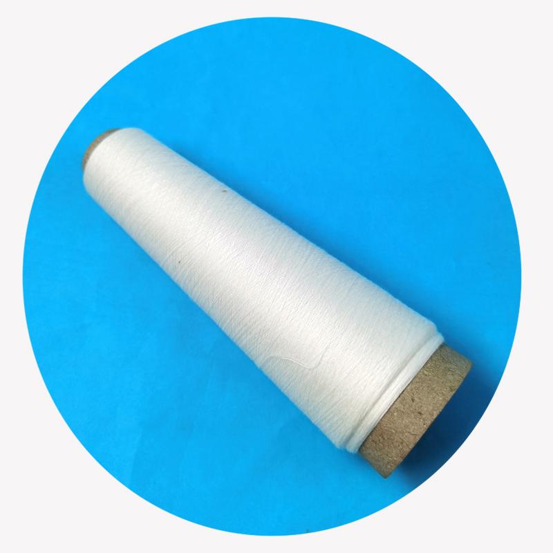 Factory supply high tenacity white bamboo fiber yarn for knitting fabric