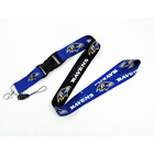 Nfl Good Quality Wholesale Luxury Manufacture Nfl Lanyard Football Team Keychain Multifunction Silk Print Custom Logo