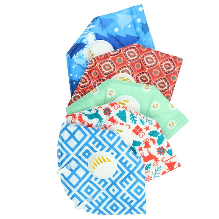 Various color KN95 disposable folding colorful fashion face mask with valve - KingCare   KingCare.net