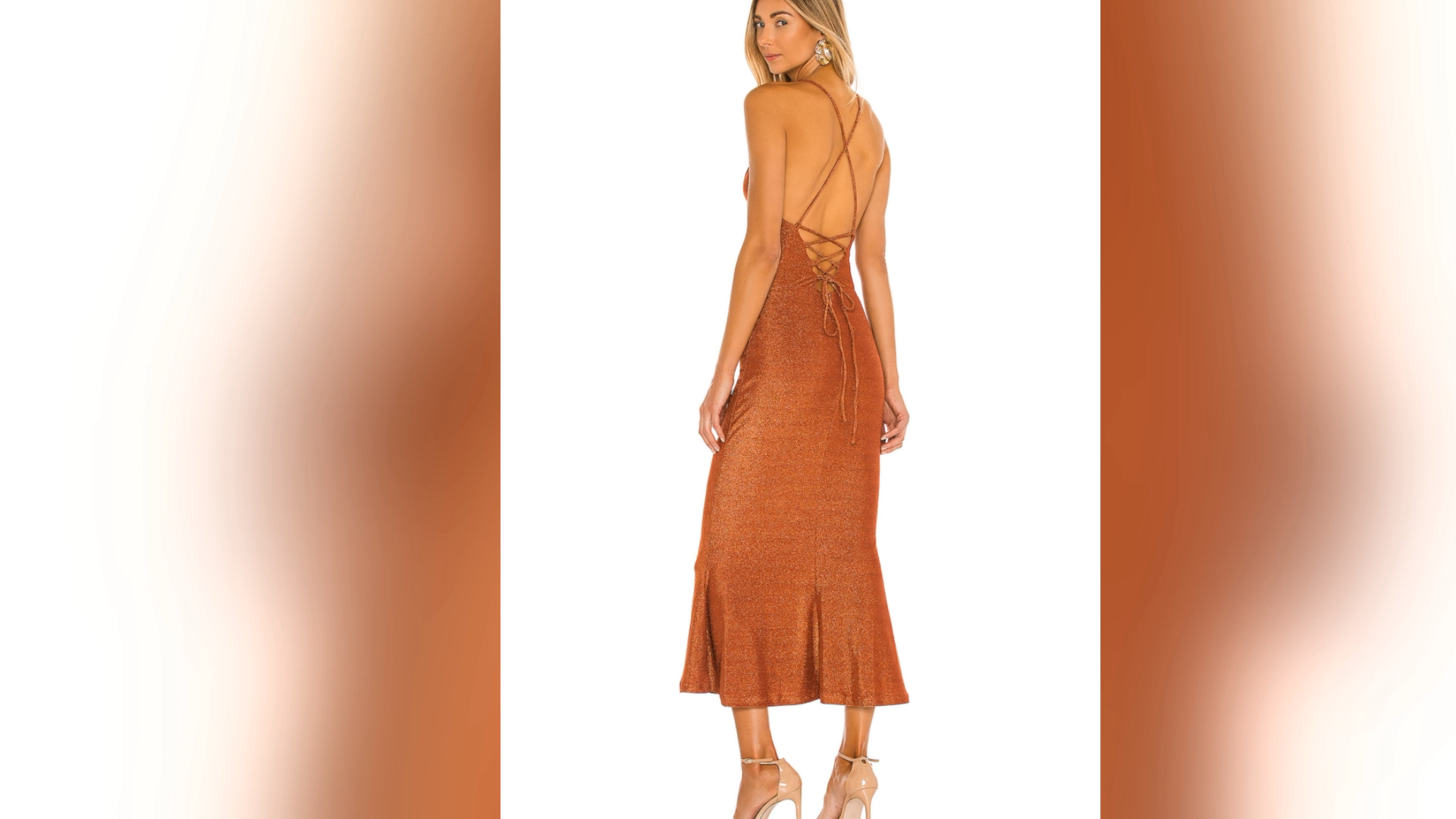 2021 OEM summer custom casual clothes Halterneck backless ruffles boho sun beach midi dress for women