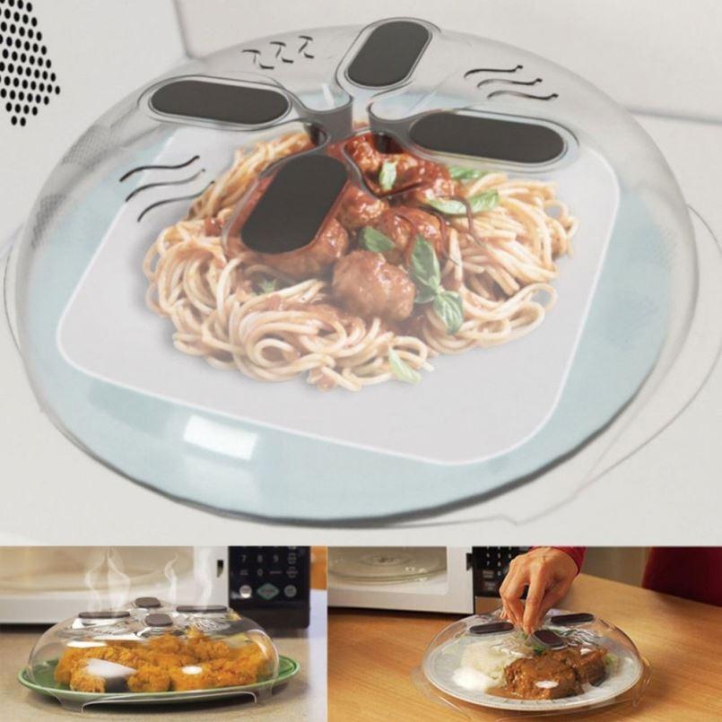 Магнитная защита от брызг пищевых продуктов, крышка против брызг в микроволновой печи с отверстиями для пара, Магнитная Крышка для брызг, термостойкая