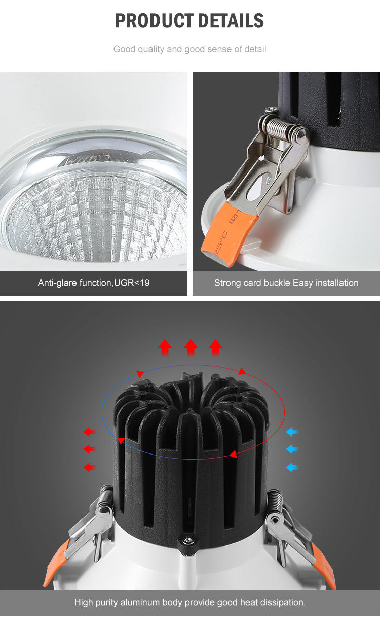 DGLUX Low Price Aluminum Visual Comfort White 10W 15W 20W 30W 40W LED Spot Light