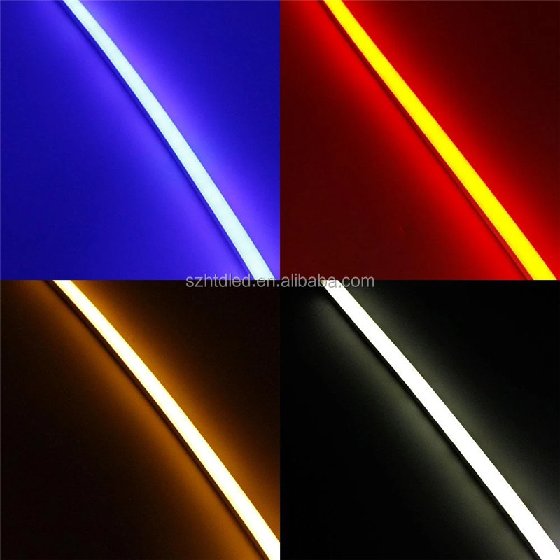4 x 10 mm narrow LED Light tube Channel Flexible LED Silicone Neon Housing for 6mm Wide LED Strip Lights