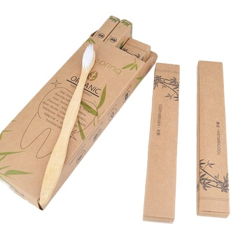 Amazon hot selling 2020 Eco-Friendly Natural Biodegradable wooden bamboo toothbrush 4 sets packed