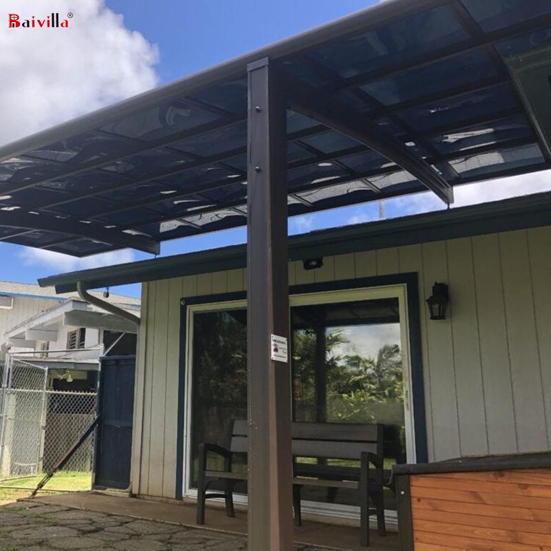 Усиленные гаражи с крышами из поликарбоната, садовая вилла, оптовая цена