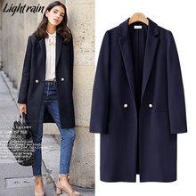 Женский Длинный блейзер GareMay, Свободный Повседневный пиджак, Офисная верхняя одежда, весна-осень(Китай)