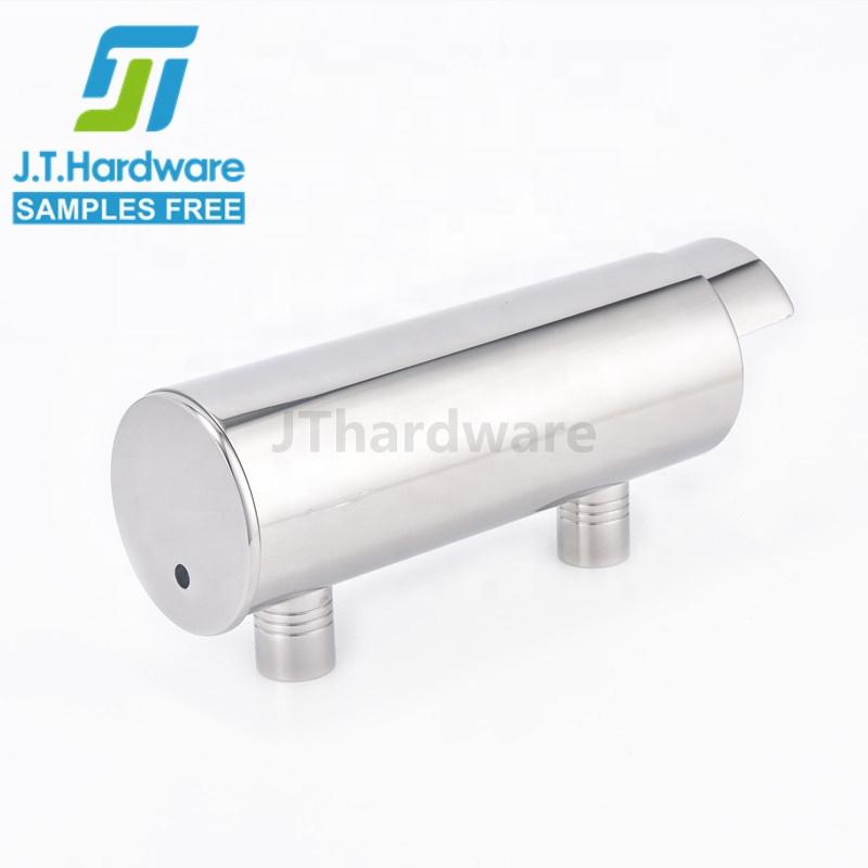 Сверхмощный настенный цилиндр для душа многоразовый кнопочный ручной дозатор для мыла из нержавеющей стали
