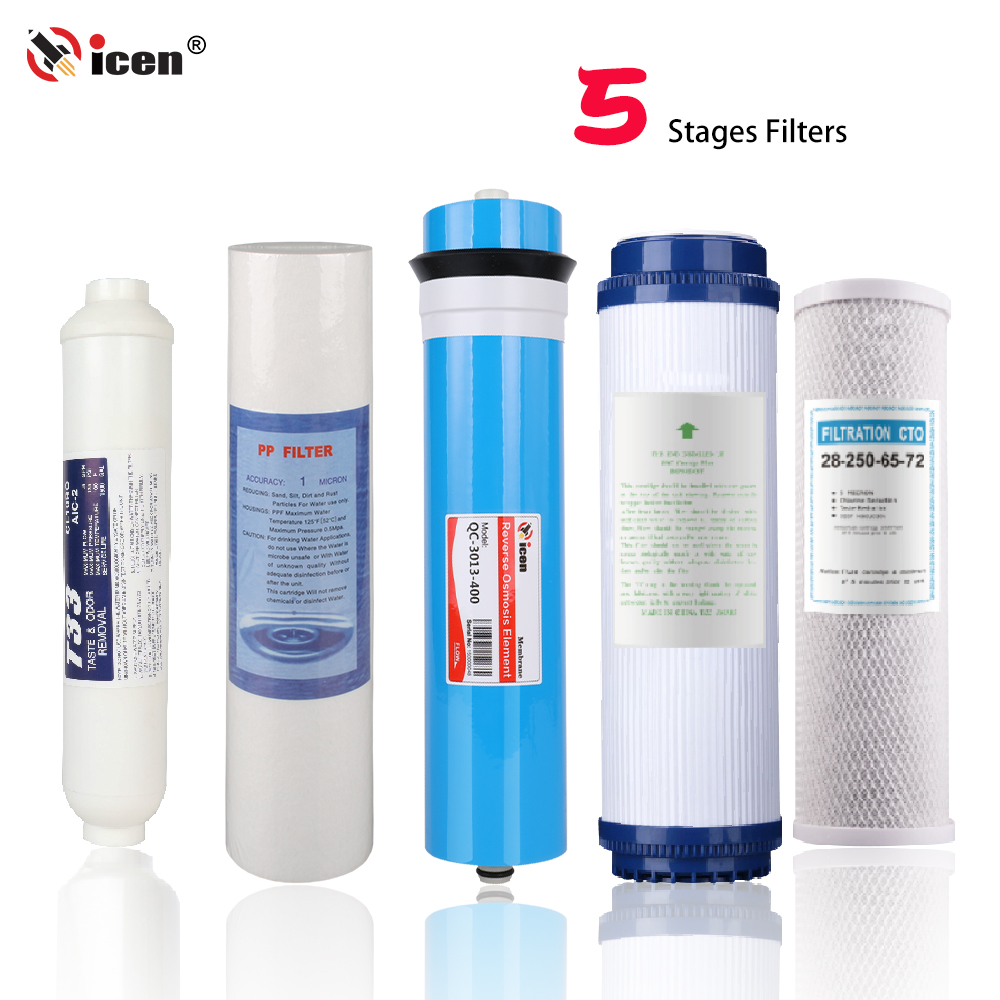 Qicen Customizable 5 Stages Household Water Purifier 400GPD Home Use Ro Filtration System