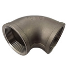 Pipe Fitting Cast Iron Elbow Black Pipe Fitting Cast Clamp Mech Galvanized Malleable Iron 90 Degree Elbow