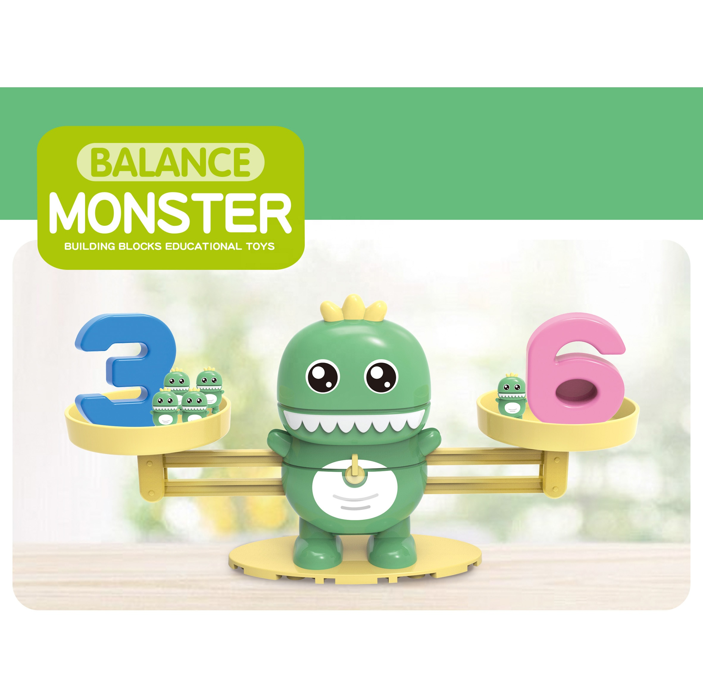 STEAM Educational kids learning plastic number matching smart games for math kids counting balance board game
