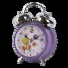 Violet personnaliser double sonnette d'alarme horloge