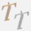 T - 18k gold or rhodium