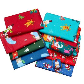 Christmas Quilting Fabric 100% Cotton Christmas Series Handmade Patchwork for DIY Sewing New Year