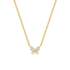 Necklace 925 Sterling Women Necklace Newest Fashion Jewelry 18k Gold Plated Fine Necklace 925 Sterling Silver Diamond Butterfly Pendant Necklace For Women
