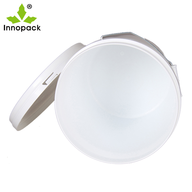 Hot sale 10L 15L 20L white plastic bucket with lid and handle plastic Drums with lids