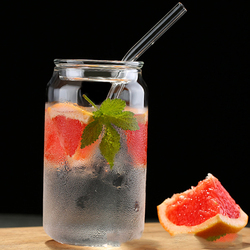 INS Creative  Minimalist Cola Cans Glass Straws Cup