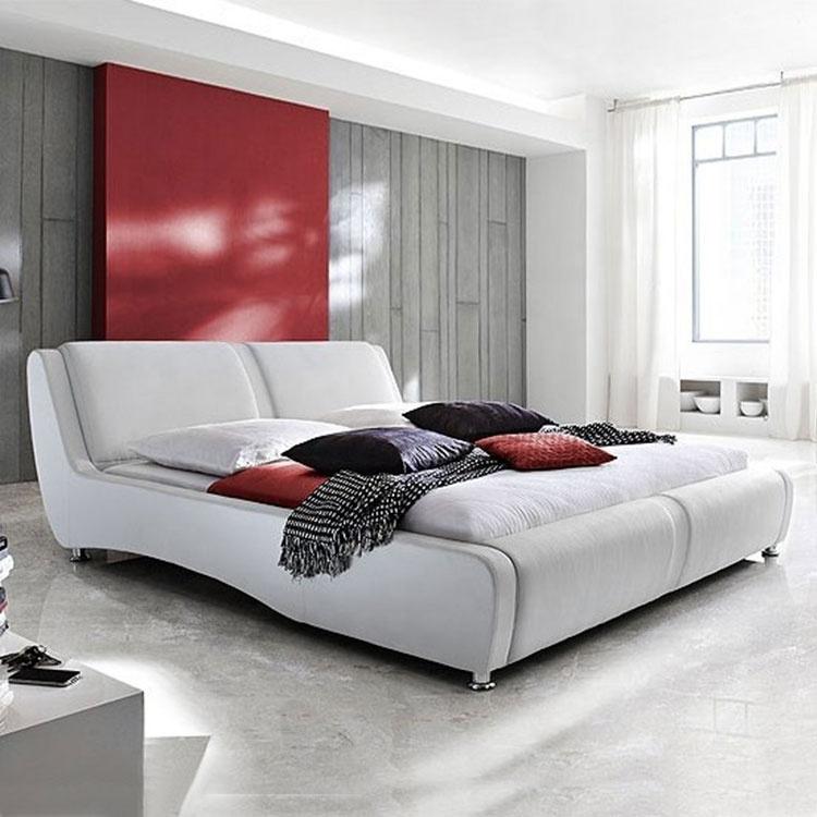 custom made cheap leather bed frame king size bed forhotel guestroom furniture split king adjustable bed