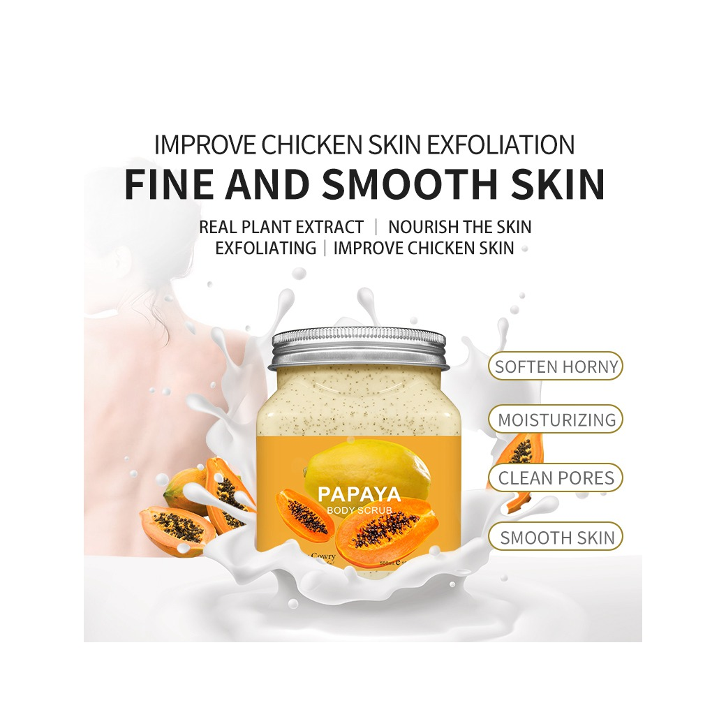 Factory Outlet Supports OEM pretty cowry Strawberry Body Scrub Improves Chicken Skin Skin Exfoliation Strawberry Body Scrub