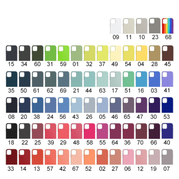 70 Colors Wholesale Silicone Phone Case For iPhone 11/12 Pro Max, Microfiber Lining Smartphone Cover For iPhone 8P/7P/X/Xs/XR