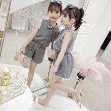 Детская клетчатая футболка и шорты, повседневная одежда для подростков 3, 4, 5, 6, 7, 8, 9, 10, 11, 12 лет, 2020(Китай)