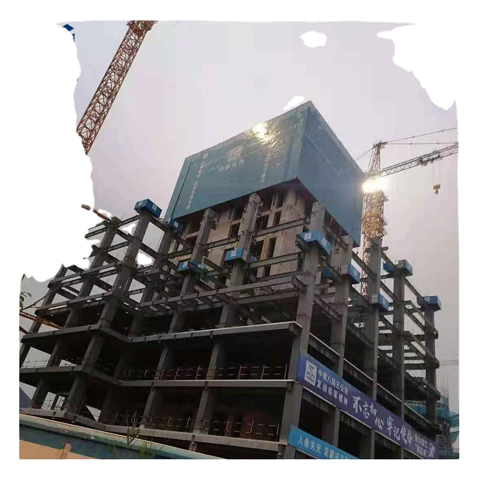 Easy construction electric hoist lifting automatic scaffolding