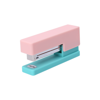 Office Plastic Multi Color Design Stapler Mini Size with Rubber Top Color matching rubber stapler