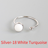 Silver-18 White Turquoise