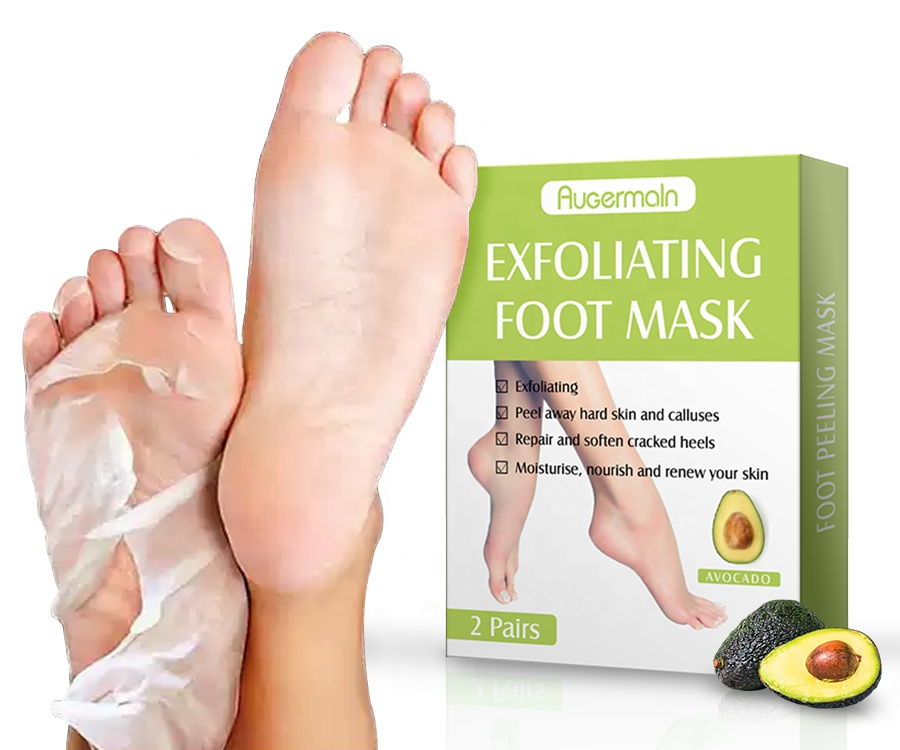 Avocado Peeling Mask Feet Skin Care Socks Exfoliating Foot Mask with Private Label