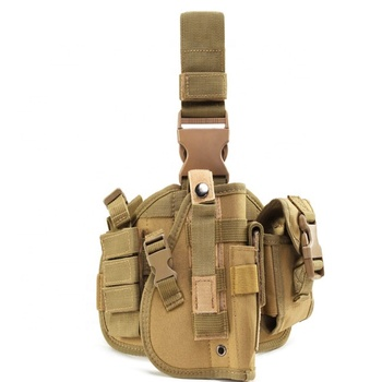 Tactical Molle Drop Leg Pistol Holster Glock Airsoft Thigh Gun Adjustable Hunting Leg Holster