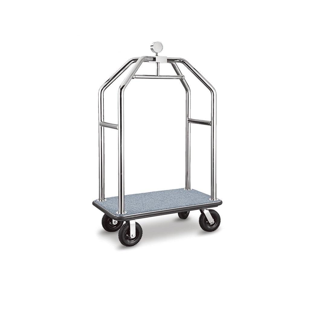 Custom stainless steel birdcage trolley bellman cart hotel luggage trolley