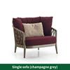 1 sofá de color rojo