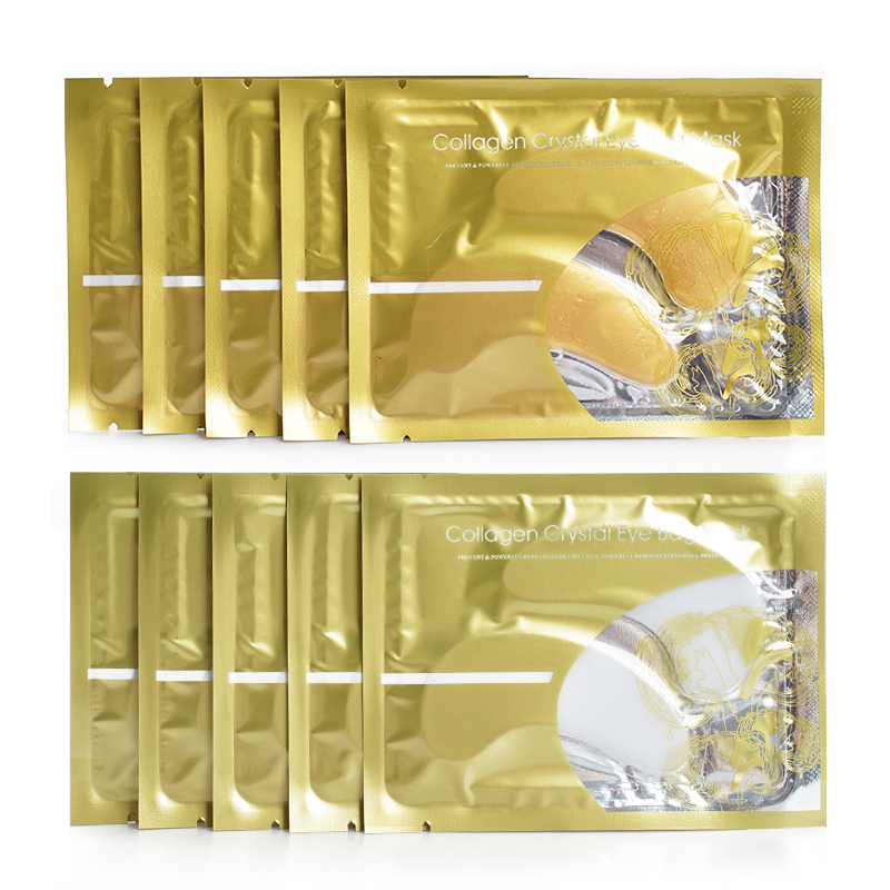 Factory Outlet 24K Gold Eye Mask for Anti Aging Dark Circles and Puffiness Collagen Crystal Eye Masks Sheet Patch