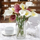 OurWarm Cheap Real Touch Latex Plastic Flowers Artificial Calla Flowers Bouquet For Home Table Wedding Party Decoration