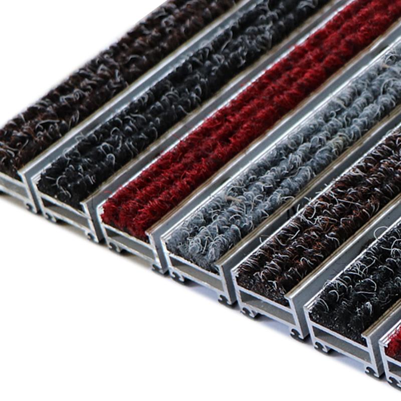 Outdoor 2.0mm Thickness Mud Away Effective Dirt Cleaning Floor Aluminium Front Entrance Door Mat