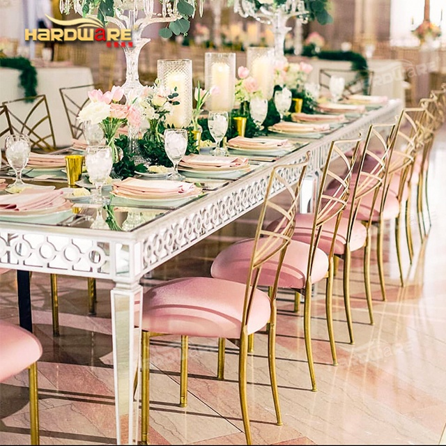 Hot Sale Luxury Event Dining Silver Stainless Steel Frame Mirror Table For Wedding Buy Mirror Wedding Table Mirrored Console Table Mirror Table Product On Alibaba Com