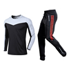 black shirt with black red pants