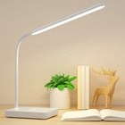 Biumart Flexible 3 Modes Touch Stepless Dimmer Rechargeable 30 LED Table Lamps with Mobile Phone Holder for Study Desk