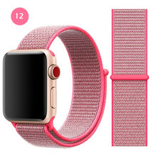 Дышащая повязка для apple Watch Series 4 3 2 полосы 44 мм 42 мм нейлоновая мягкая сменная Спортивная петля для iwatch 4 3 2 1 40 мм 38 мм(Китай)