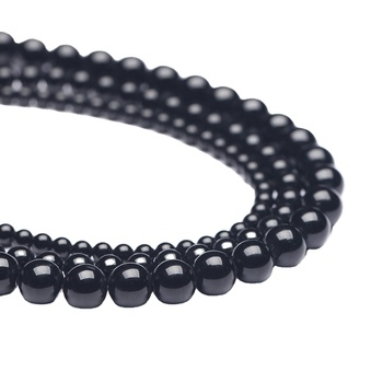 Wholesale Tier A AB+ High Quality Gemstone AAA Natural Stone Loose Round Onyx Beads Black Agate Beads for Jewelry Making