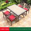 8-4 JL chair 1 ceramic tile AL frame rectangle table 150*90cm