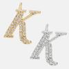 K - 18k gold or rhodium