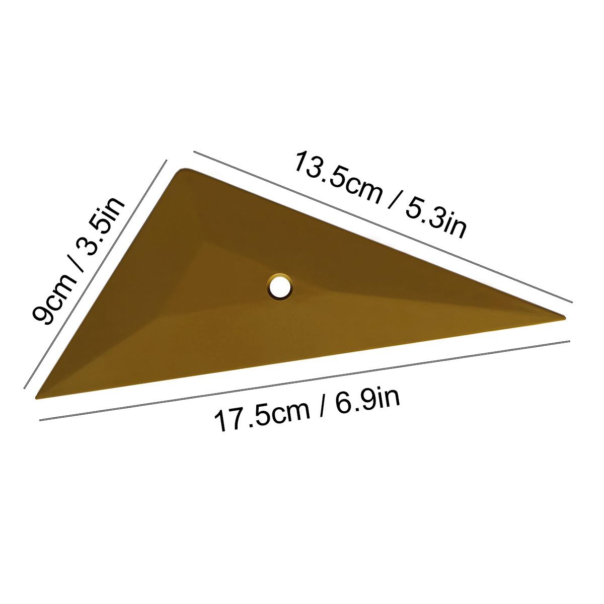 Золотой треугольный скребок, пластиковый скребок для углов, жесткая пластиковая наклейка для обмотки автомобиля, инструменты для установки окон