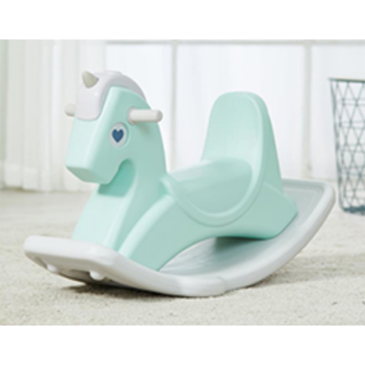 Экологически чистая оптовая продажа, дешевая маленькая пластиковая Розовая лошадка-качалка с сертификатом CE для малышей
